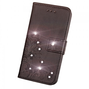 Yc Lucky Clover Stick Drill Card Lanyard Pu Leather for Samsung S8 Plus -