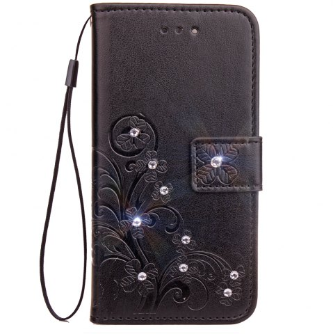 Fancy Yc Lucky Clover Stick Drill Card Lanyard Pu Leather for Samsung S8 Plus