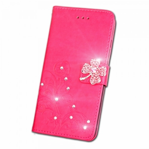 Yc Lucky Clover Stick Drill Card Lanyard Pu B Cuir pour Samsung S8 Plus -