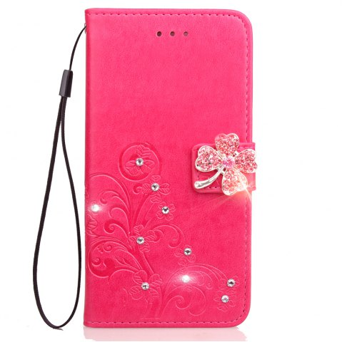 Fancy Yc Lucky Clover Stick Drill Card Lanyard Pu B Leather for Samsung S8 Plus