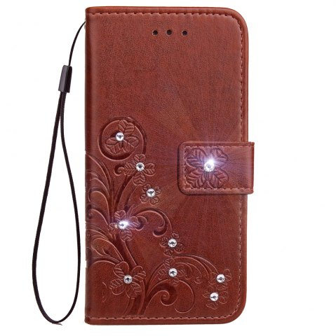 New Yc Lucky Clover Stick Drill Card Lanyard Pu Leather for Iphone 8 Plus