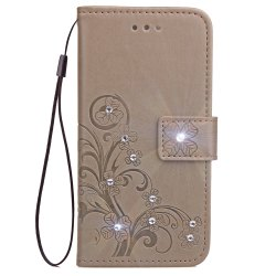 Yc Lucky Clover Stick Drill Card Lanyard Pu Leather pour Iphone 8 Plus -