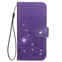 Yc Lucky Clover Stick Drill Card Lanyard Pu Leather for Iphone 8 Plus -