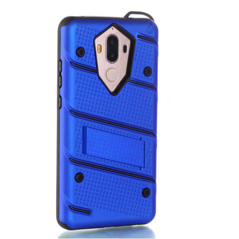 Affordable Wkae Ultra Thin Slim Dual Layer Pc Soft Tpu Back Protective Cover Case Shockproof with Kickstand for Huawei Mate 9