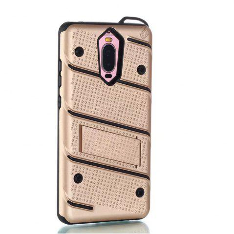 Fancy Wkae Ultra Thin Slim Dual Layer Pc Soft Tpu Back Protective Cover Case Shockproof with Kickstand for Huawei Mate 9 Pro