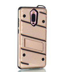 Wkae Ultra Thin Slim Dual Layer Pc Soft Tpu Back Protective Cover Case Shockproof with Kickstand for Huawei Mate 9 Pro -