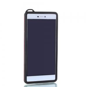 Wkae Ultra Thin Slim Dual Layer Pc Soft Tpu Back Protective Cover Case Shockproof with Kickstand for Huawei P8 -