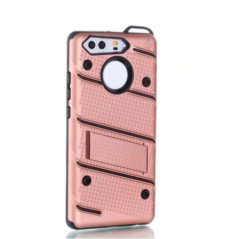 Discount Wkae Ultra Thin Slim Dual Layer Pc Soft Tpu Back Protective Cover Case Shockproof with Kickstand for Huawei P9