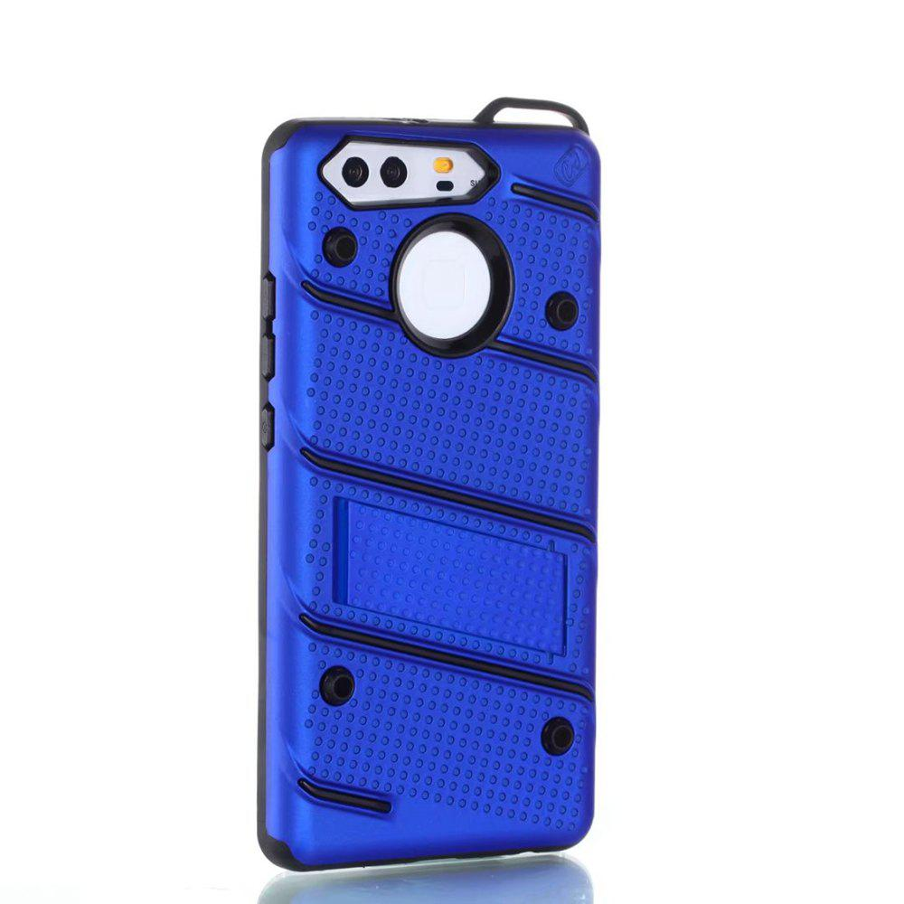 Outfit Wkae Ultra Thin Slim Dual Layer Pc Soft Tpu Back Protective Cover Case Shockproof with Kickstand for Huawei P9