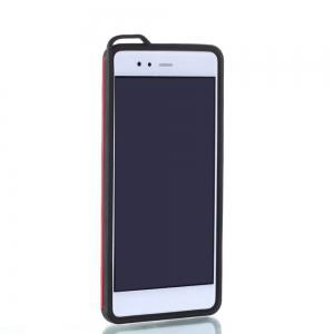 Wkae Ultra Thin Slim Dual Layer Pc Soft Tpu Back Protective Cover Case Shockproof with Kickstand for Huawei P9 Plus -