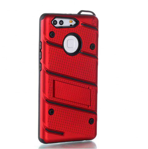 Latest Wkae Ultra Thin Slim Dual Layer Pc Soft Tpu Back Protective Cover Case Shockproof with Kickstand for Huawei P9 Plus