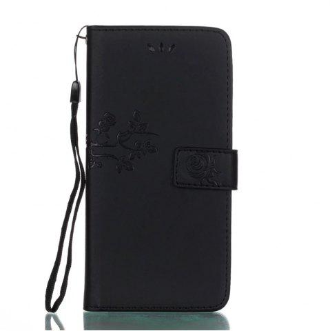 Buy Wkae Double Side Embossing Rose Flower Synthetic Leather Wallet Case Soft Silicone Back Cover with Flip Kickstand And Lanyard for Huawei Mate 9 Pro