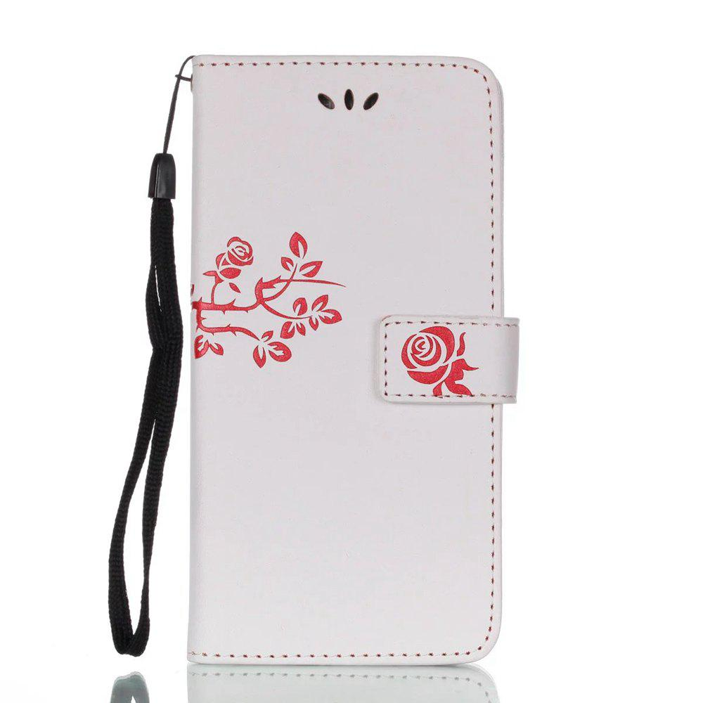 Shops Wkae Double Side Embossing Rose Flower Synthetic Leather Wallet Case Soft Silicone Back Cover with Flip Kickstand And Lanyard for Huawei Mate 9 Pro