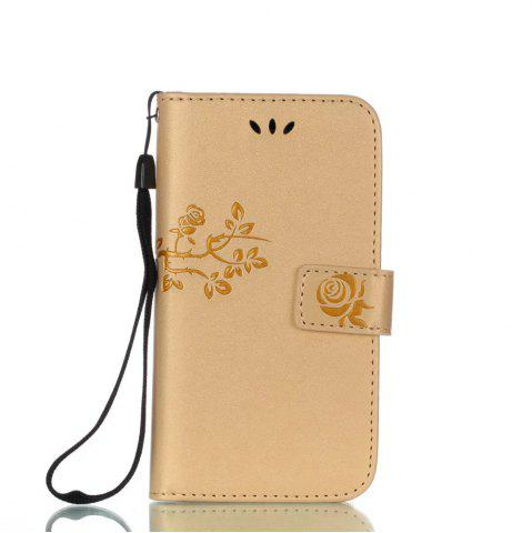 Hot Wkae Double Side Embossing Rose Flower Synthetic Leather Wallet Case Soft Silicone Back Cover with Flip Kickstand And Lanyard for Samsung Galaxy A3 2017