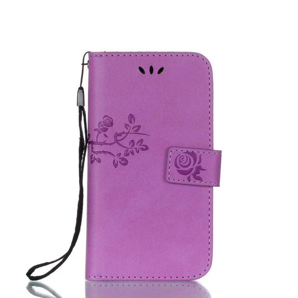 Online Wkae Double Side Embossing Rose Flower Synthetic Leather Wallet Case Soft Silicone Back Cover with Flip Kickstand And Lanyard for Samsung Galaxy A3 2017