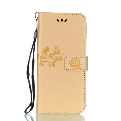 Best Wkae Double Side Embossing Rose Flower Synthetic Leather Wallet Case Soft Silicone Back Cover with Flip Kickstand And Lanyard for Samsung Galaxy S8