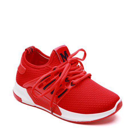 Chic All-Match Cloth Shoes Lace White Sneakers Shoes - 40 RED Mobile
