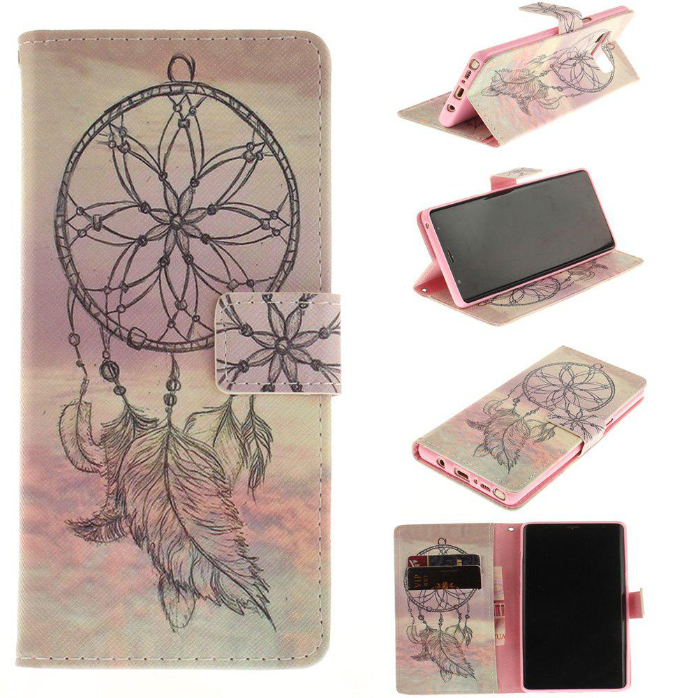 Chic Card Holder Wallet with Stand Flip Magnetic Aeolian Bells Pattern Full Body Case Cover Pu+Tpu Leather for Samsung Galaxy Note 8