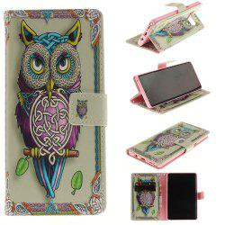 Card Holder Wallet with Stand Flip Magnetic Pattern Full Body Case Cover Owl Hard Pu+Tpu Leather for Samsung Galaxy Note 8 -