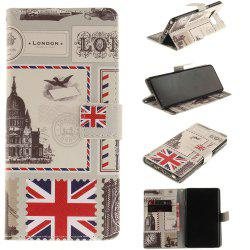 Card Holder Wallet with Stand Flip Magnetic Pattern Full Body Case Cover Uk Flag Pu+Tpu Leather for Samsung Galaxy Note 8 -