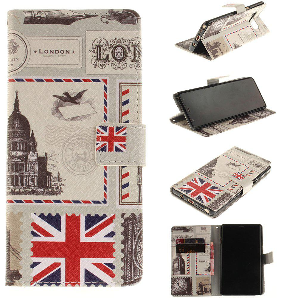 Fancy Card Holder Wallet with Stand Flip Magnetic Pattern Full Body Case Cover Uk Flag Pu+Tpu Leather for Samsung Galaxy Note 8
