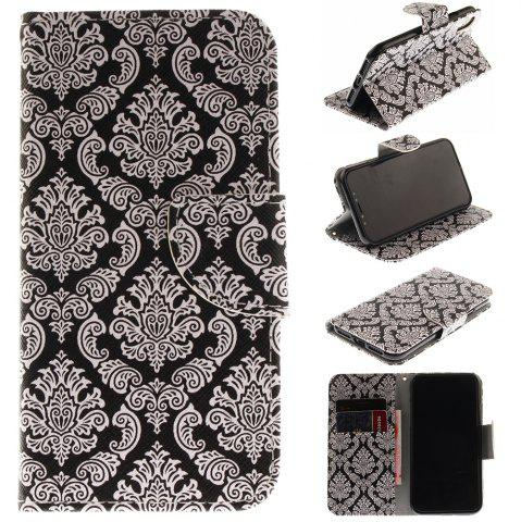 Cheap Totem Pu+Tpu Leather Wallet Case with Card Holder/Magnetic Closure Flip Cover for Iphone x