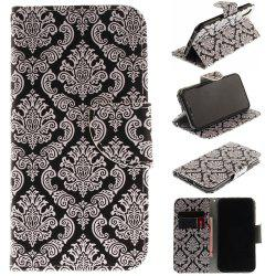 Totem Pu+Tpu Leather Wallet Case with Card Holder/Magnetic Closure Flip Cover for Iphone x -