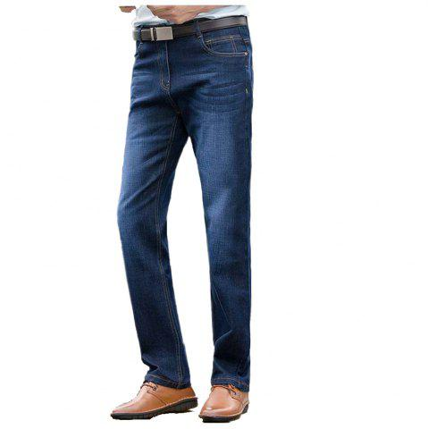 Chic Baiyuan Trousers High Quality Smart Casual Designer Jeans Blue BLUEBELL 36