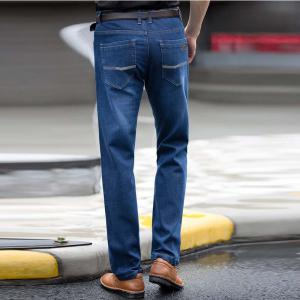 Straight Denim Mens Jeans Blue Zipper Fly -