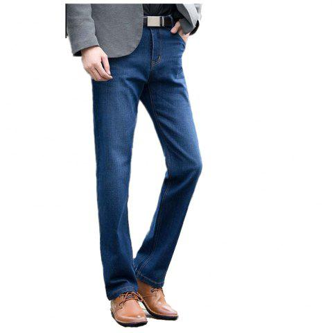 Affordable Straight Denim Mens Jeans Blue Zipper Fly