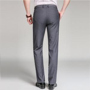 Baiyuan Trousers Bussiness Casual Slim Fit Mens Suit Pants Grey - GREY T4503/1001# 38