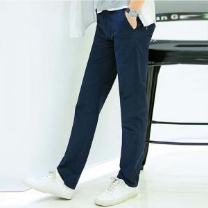 Baiyuan Trousers Business Casual Slim Fit Mens Suit Pants Dark Blue -