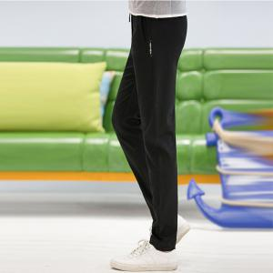 Baiyuan Trousers Autumn Fashion Casual Slim Fit Mens Long Pants Black -