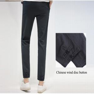 Baiyuan Trousers Brand Designer Male Harem Leggings Pants Dark Grey -