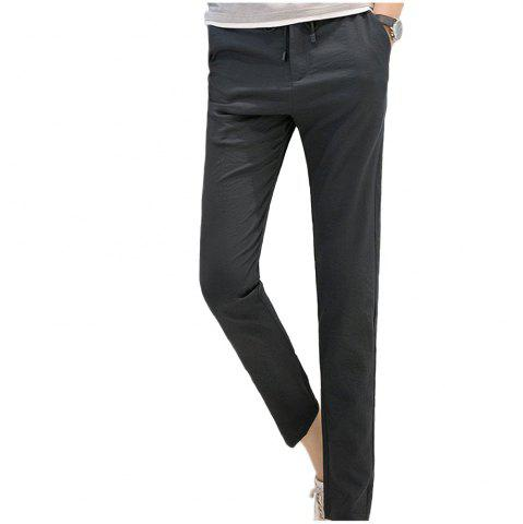 Outfits Baiyuan Trousers Brand Designer Male Harem Leggings Pants Dark Grey