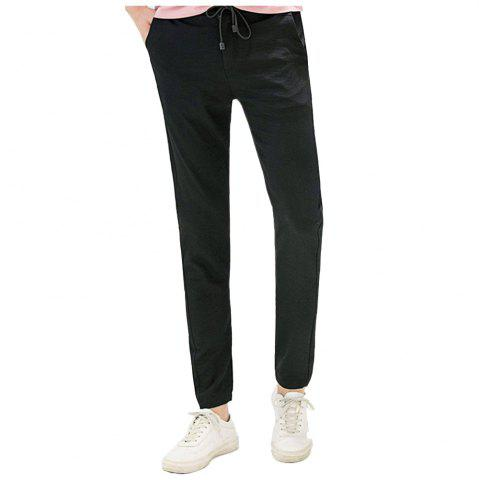 Outfit Baiyuan Trousers Brand Designer Male Harem Leggings Pants Black - 36 BLACK 2R2610# Mobile