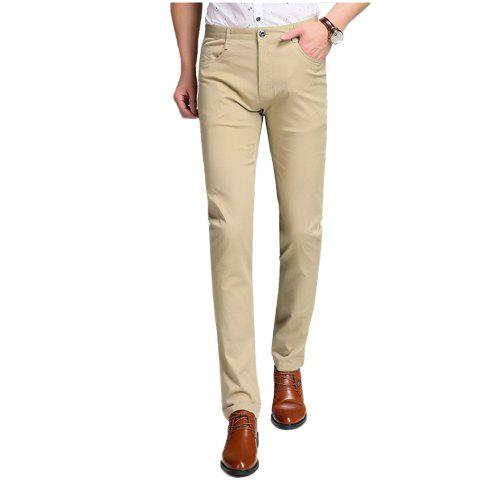 Latest Baiyuan Trousers Business Casual Slim Fit Mens Suit Pants Khaki KHAKI 36
