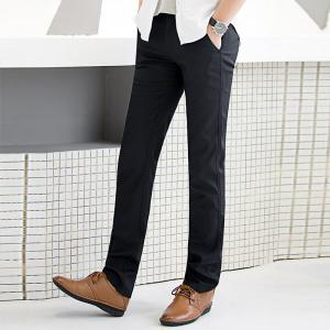 Baiyuan Trousers Autumn Business Casual Slim Fit Mens Suit Pants Black -