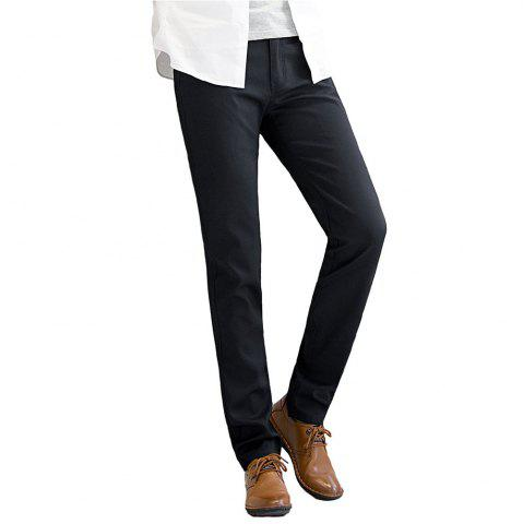 Buy Baiyuan Trousers Autumn Business Casual Slim Fit Mens Suit Pants Black