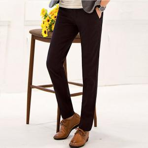 Baiyuan Trousers Autumn Business Casual Slim Fit Mens Suit Pants Red Wine - RED WINE 40