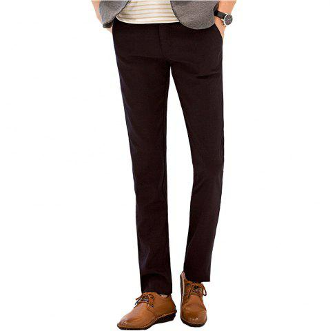 Affordable Baiyuan Trousers Autumn Business Casual Slim Fit Mens Suit Pants Red Wine RED WINE 40