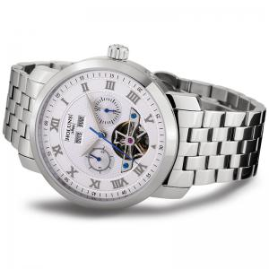 HOLUNS 4612 Business Steel Band Mechanical Men Watch - WHITE