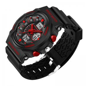 Sanda 241 5297 LED Luminous Quartz Movement Men Watch - RED
