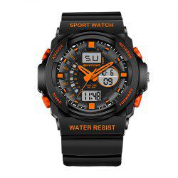 Sanda 241 5297 LED Luminous Quartz Movement Men Watch - ORANGE