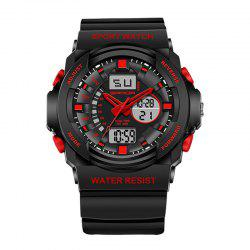 Sanda 241 5297 LED Luminous Quartz Movement Men Watch - Rouge