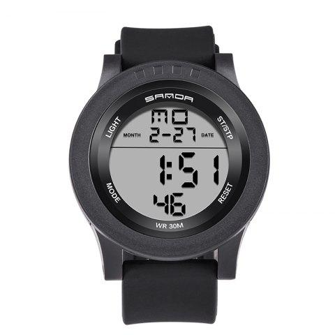 Outfit Sanda 336 5311 Leisure Multifunctional Sports Men Watch BLACK WHITE