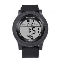 Sanda 336 5311 Leisure Multifunctional Sports Men Watch - BLACK WHITE