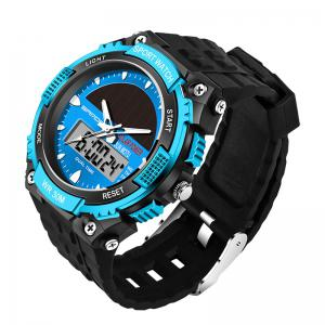 Sanda 719 5313 Multifunctional Outdoor Sports Men Watch - BLACK AND BLUE