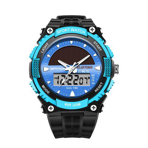 Hot Sanda 719 5313 Multifunctional Outdoor Sports Men Watch BLACK AND BLUE