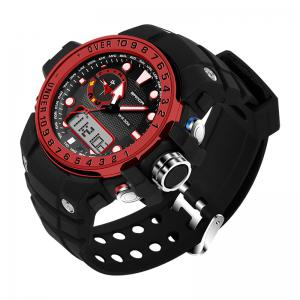 Sanda 399 5314 Leisure Luminous Outdoor Men Watch - BLACK&RED